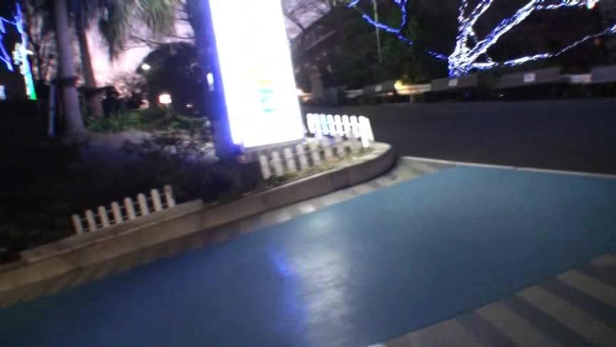 超ミニスカートにガーターストッキング恋人と街中露出散歩指導収録☆☆